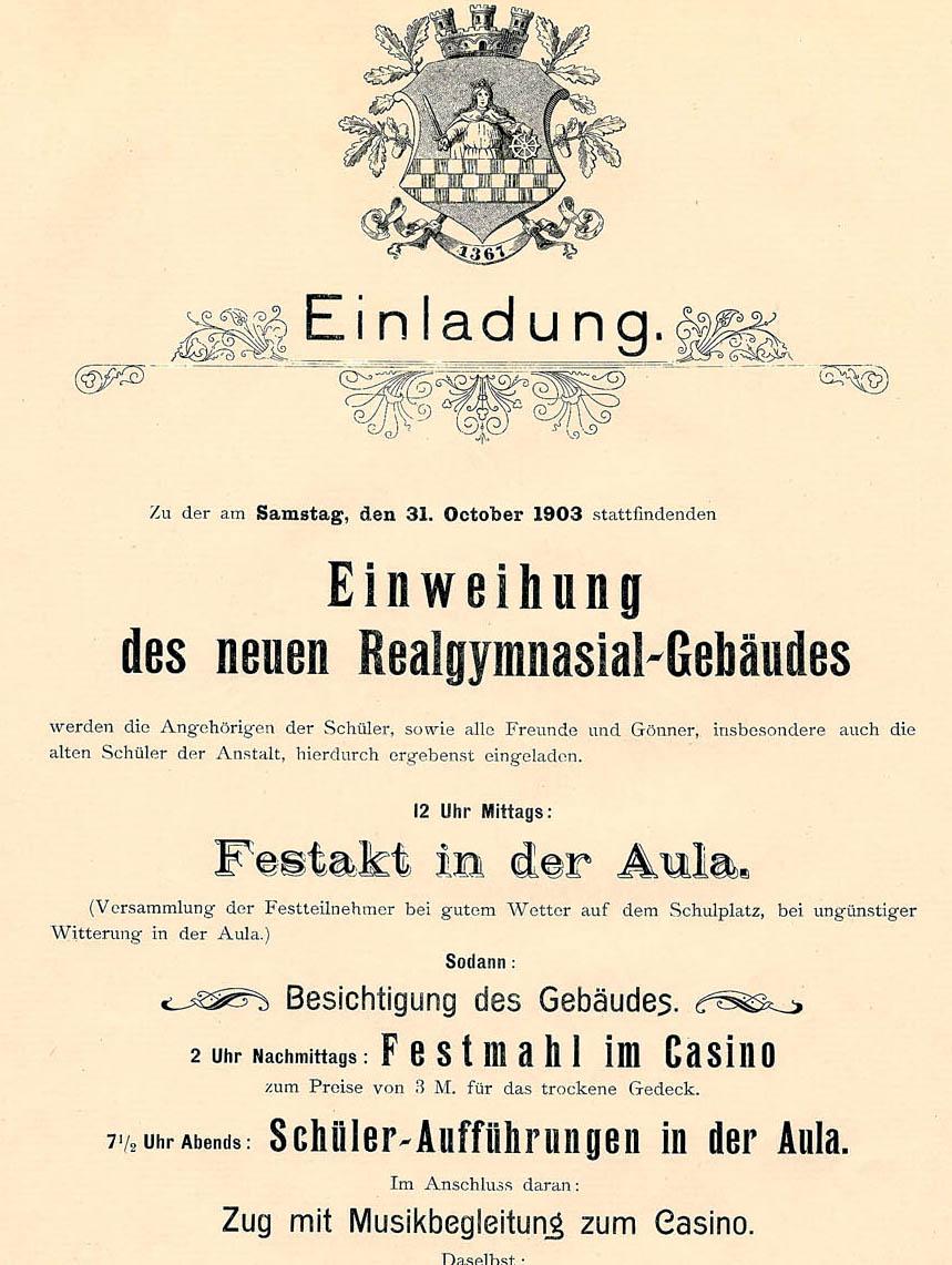 burggymnasium altena - realgymnasium, Einladung